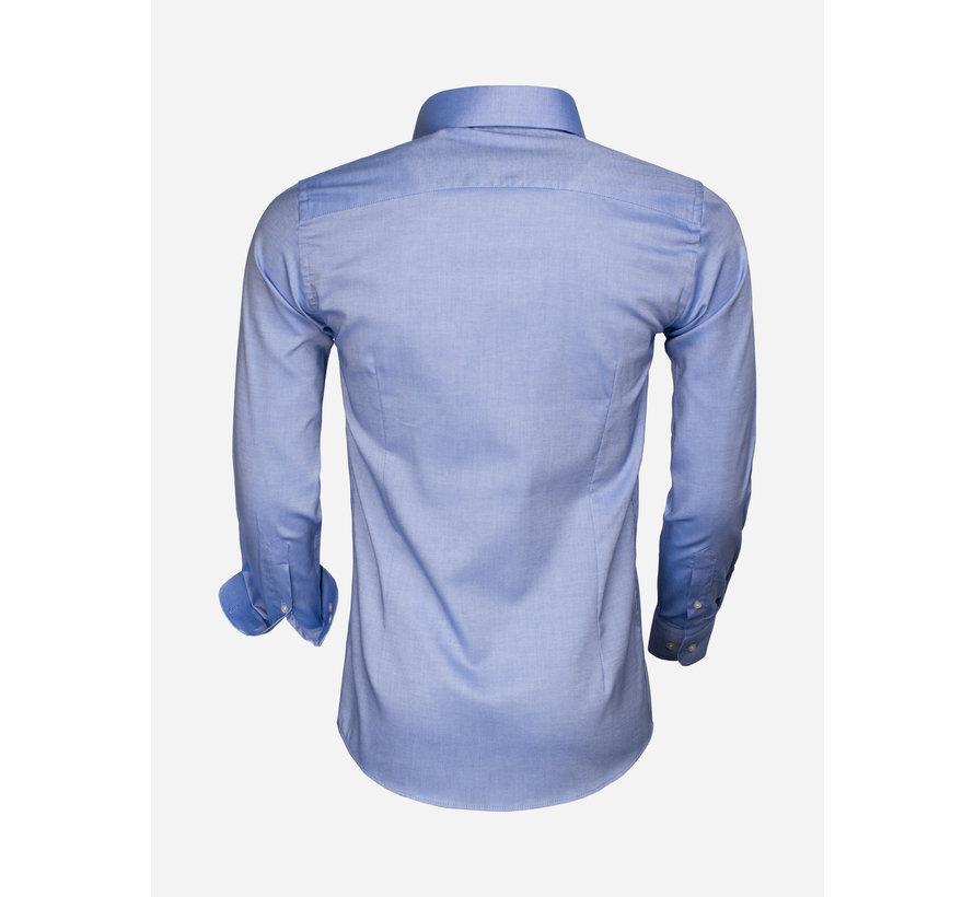 Overhemd Lange Mouw 65000 Cagliari Turquoise