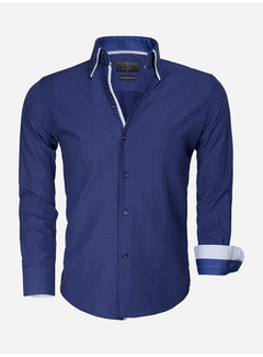 Gaznawi Overhemd Lange Mouw 65015 Benevento Light Navy