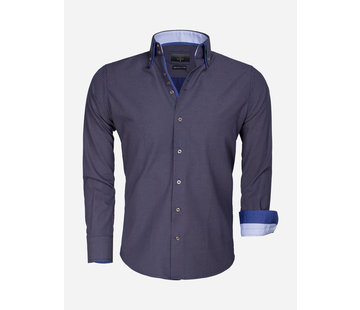 Gaznawi Shirt Long Sleeve 65015 Benevento Navy Brown