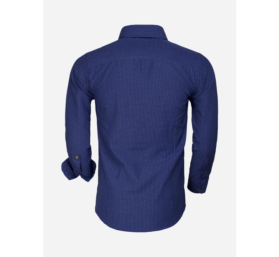Overhemd Lange Mouw 65015 Benevento Light Navy