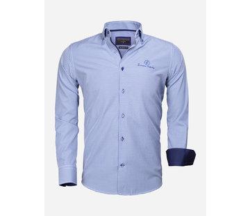 Gaznawi Overhemd Lange Mouw 65026 Avellino Royal Blue