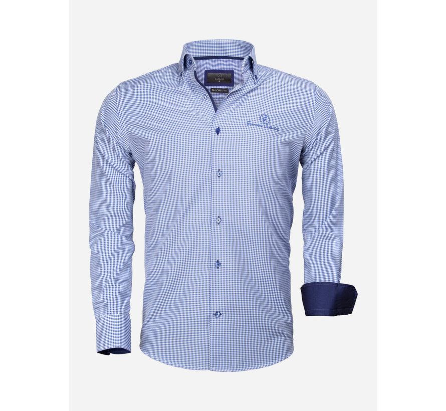 Overhemd Lange Mouw 65026 Avellino Royal Blue
