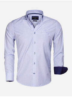 Gaznawi Overhemd Lange Mouw 65026 Avellino Blue