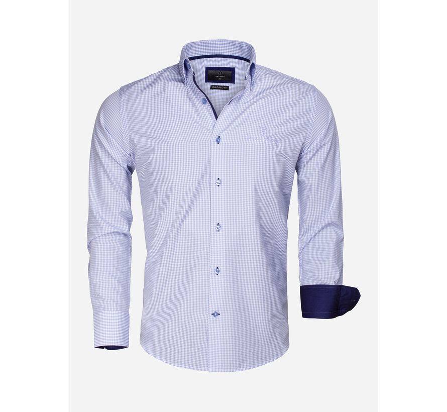Overhemd Lange Mouw 65026 Avellino Blue