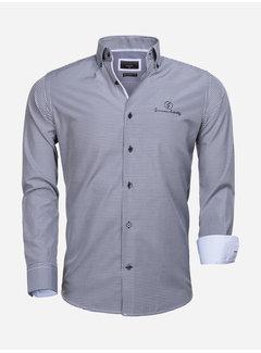 Gaznawi Overhemd Lange Mouw 65026 Avellino Navy