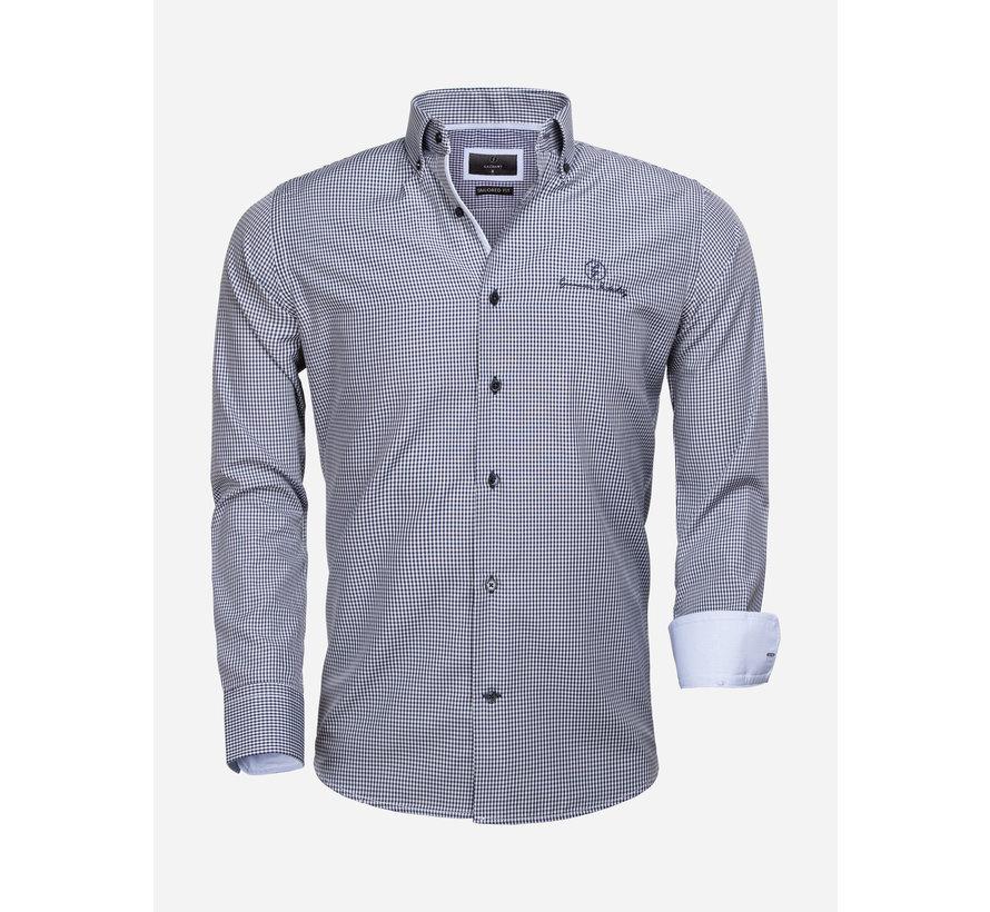 Overhemd Lange Mouw 65026 Avellino Navy