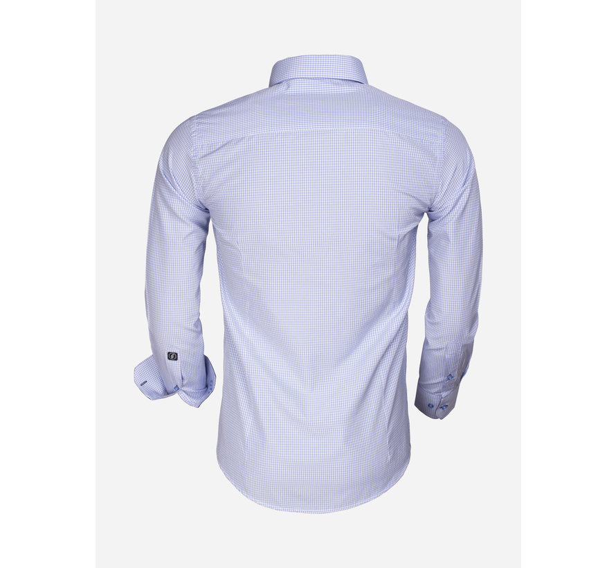 Shirt Long Sleeve 65026 Avellino Blue