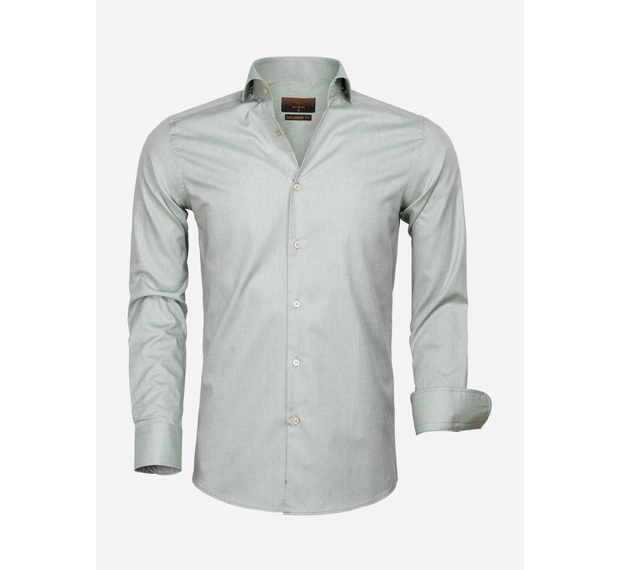 Overhemd Lange Mouw 65000 Cagliari Dark Green