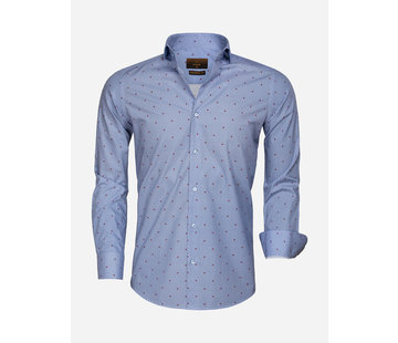 Gaznawi Shirt Long Sleeve 65000 Cagliari Dark Blue Red