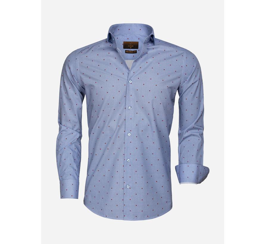 Overhemd Lange Mouw 65000 Cagliari Dark Blue Red