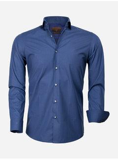Gaznawi Overhemd Lange Mouw 65000 Cagliari Navy Royal Blue