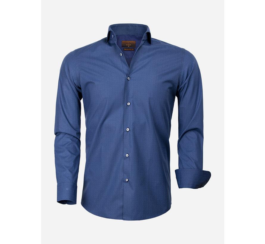 Overhemd Lange Mouw 65000 Cagliari Navy Royal Blue