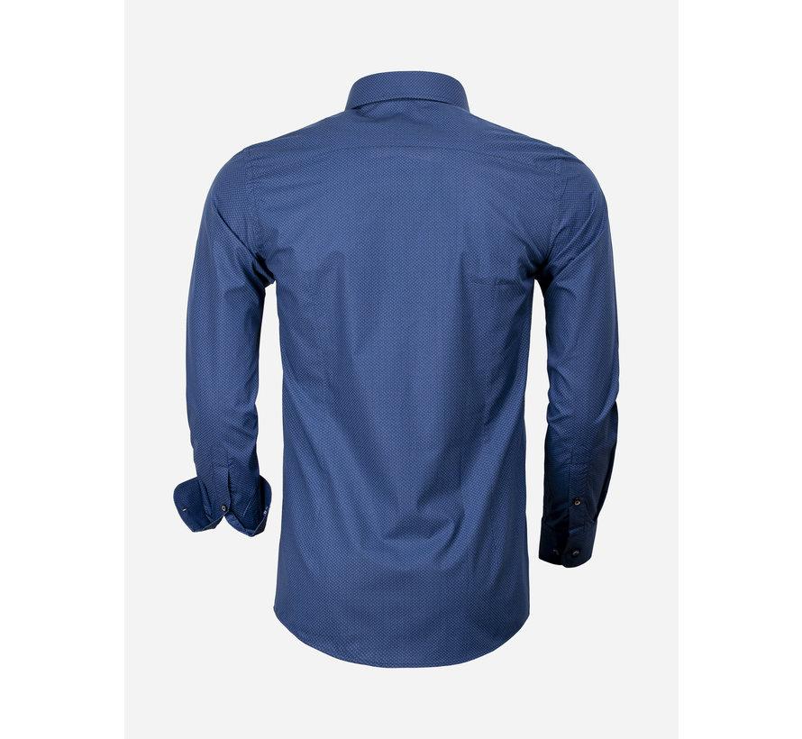Shirt Long Sleeve 65000 Cagliari Navy Royal Blue
