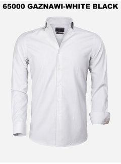 Gaznawi Overhemd Lange Mouw 65000 Cagliari White Black