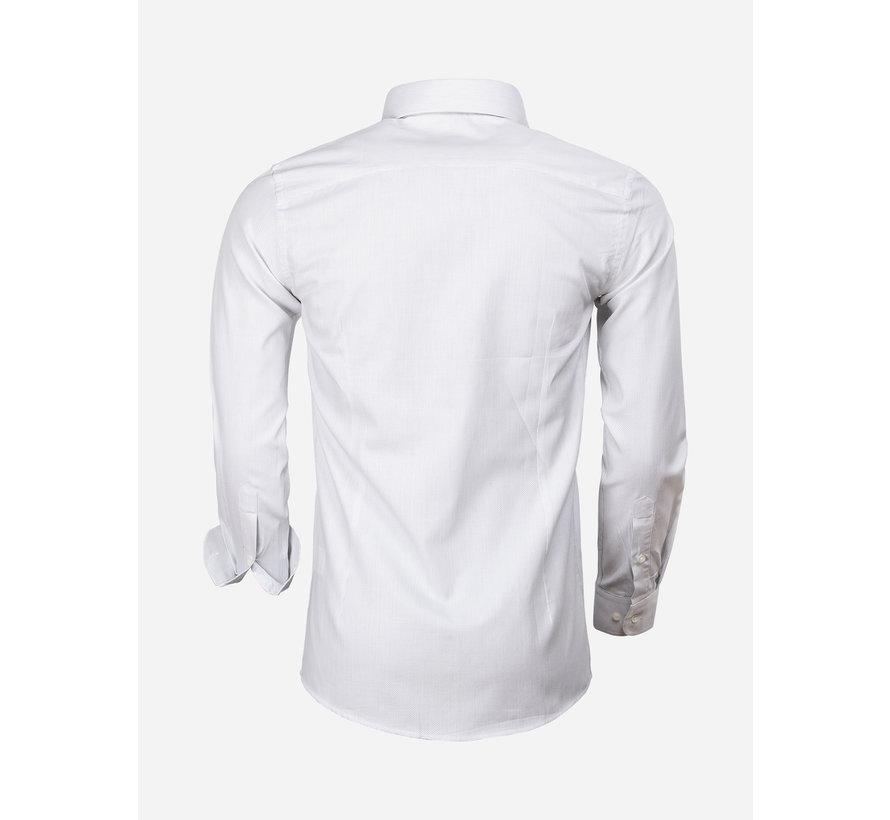 Overhemd Lange Mouw 65000 Cagliari White Black