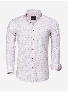 Gaznawi Shirt Long Sleeve 65000 Cagliari White Dark Red