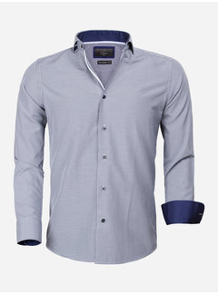 Gaznawi Overhemd Lange Mouw 65025 Asti Navy