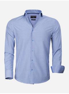 Gaznawi Overhemd Lange Mouw 65025 Asti Royal Blue