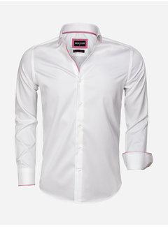 Wam Denim Overhemd Lange Mouw 75554 Adria White Fuchsia