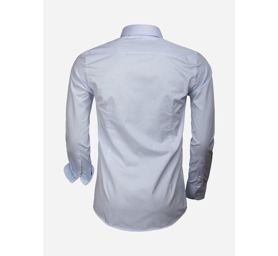 Shirt Long Sleeve 65006 Catanazaro Light Blue
