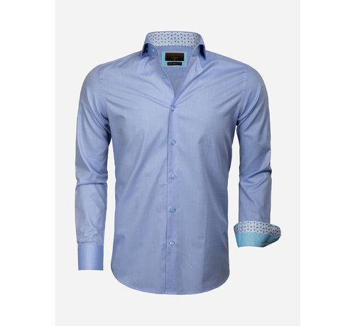 Gaznawi Overhemd Lange Mouw 65006 Catanazaro Blue