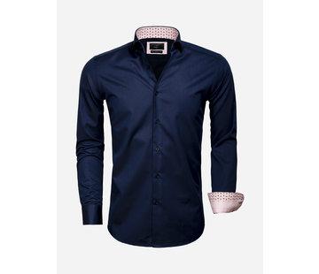 Gaznawi Overhemd Lange Mouw 65006 Catanazaro Navy