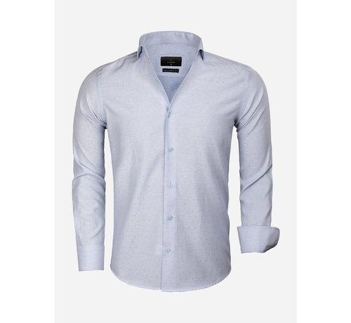 Gaznawi Overhemd Lange Mouw 65019 Alessandria Blue