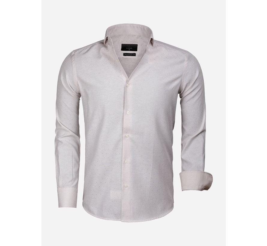 Overhemd Lange Mouw 65019 Alessandria Beige