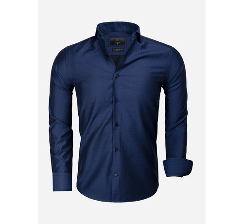 Gaznawi Overhemd Lange Mouw 65030 Empoli Navy