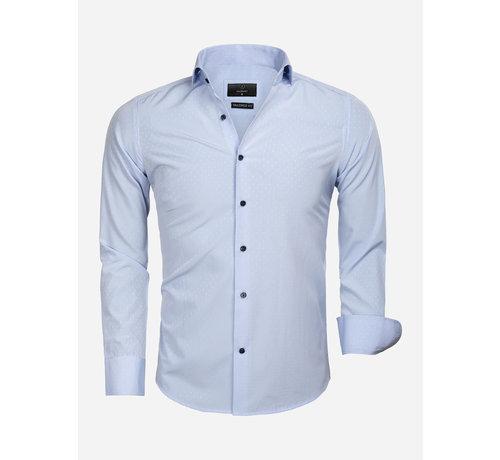 Gaznawi Overhemd Lange Mouw 65033 Cremona Blue