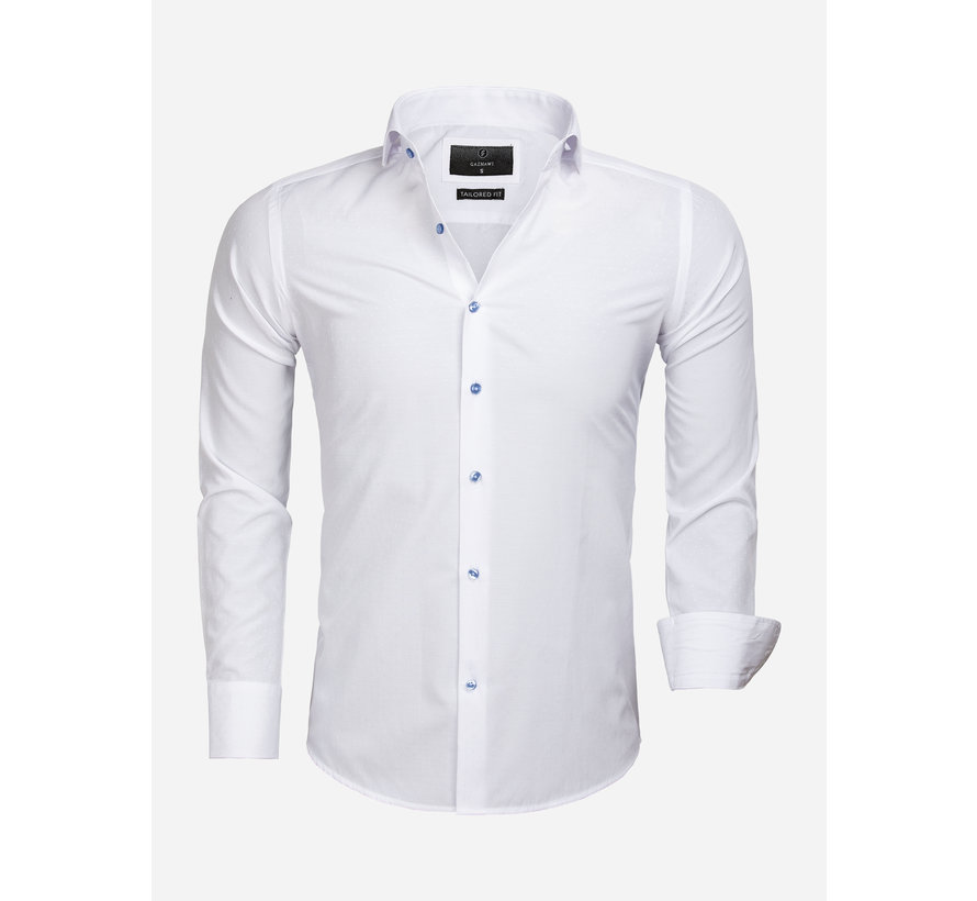 Overhemd Lange Mouw 65033 Cremona White