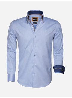 Wam Denim Overhemd Lange Mouw 75546 Agrigento Blue
