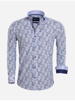 Wam Denim Shirt Long Sleeve 75567 Verona White Blue