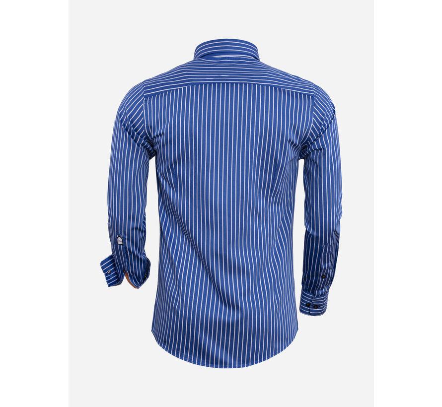 Overhemd Lange Mouw 75569 Royal Blue
