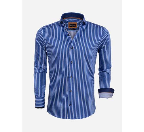 Wam Denim Overhemd Lange Mouw 75569 Royal Blue
