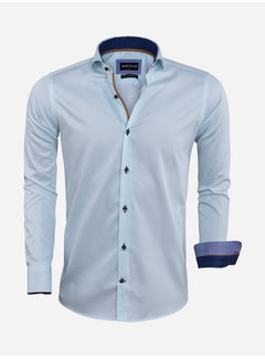 Wam Denim Overhemd Lange Mouw 75571 La Spezia Turquoise