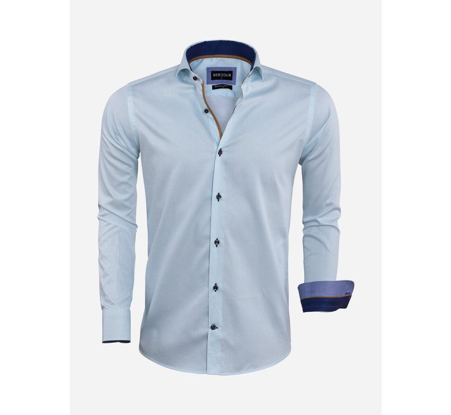 Overhemd Lange Mouw 75571 La Spezia Turquoise