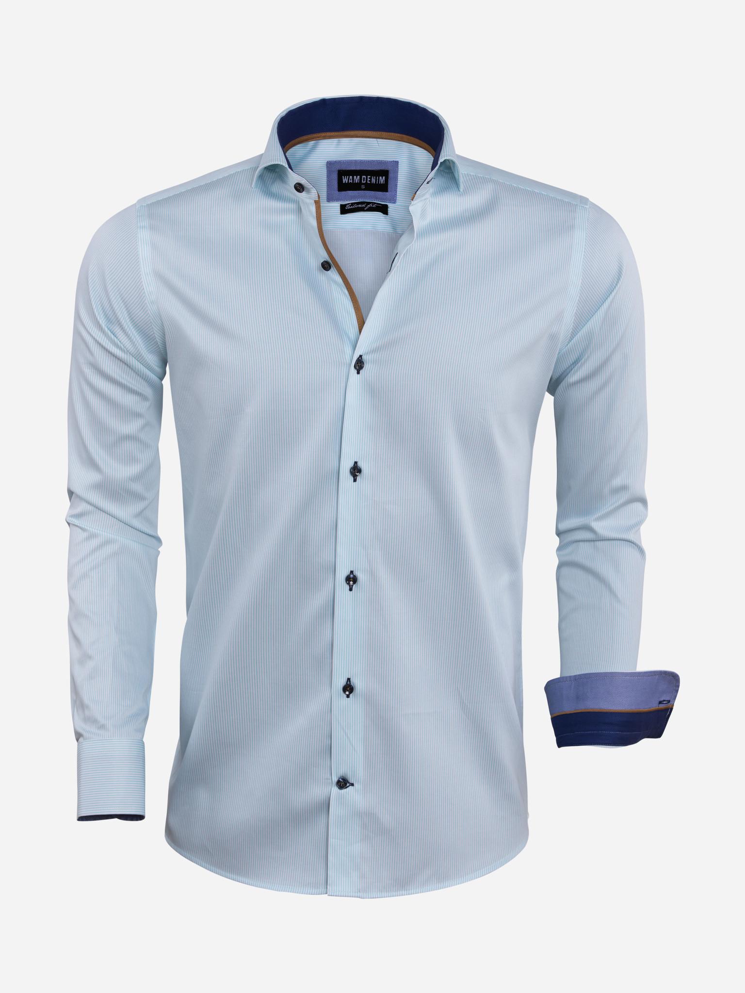 Wam Denim Overhemd Lange Mouw  Maat: 3XL