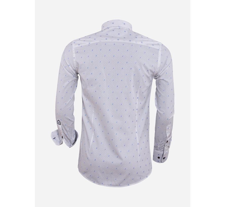 Overhemd Lange Mouw 75571 White