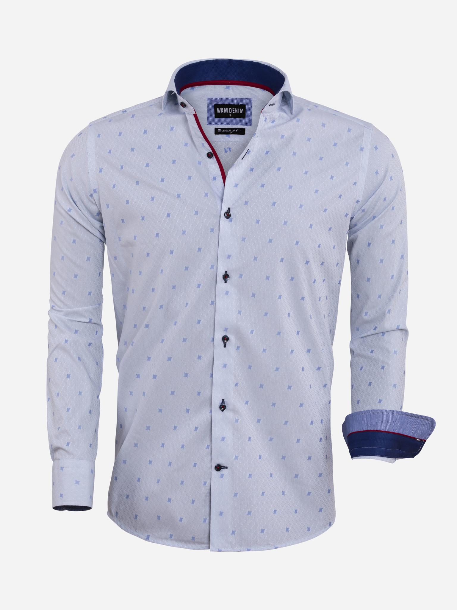 Wam Denim Overhemd Lange Mouw  Maat: 4XL