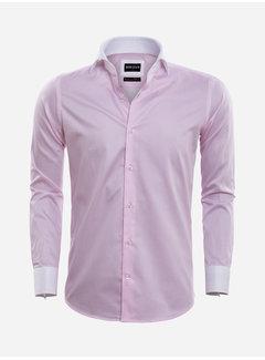 Wam Denim Overhemd Lange Mouw 75570 Teramo Pink