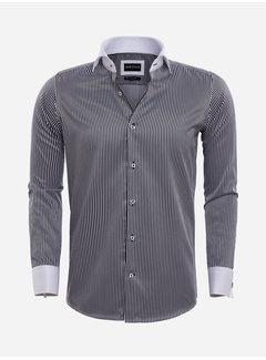 Wam Denim Overhemd Lange Mouw 75570 Teramo Black