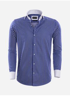 Wam Denim Overhemd Lange Mouw 75570 Teramo Royal Blue