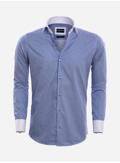 Wam Denim Overhemd Lange Mouw 75570 Teramo Light Navy
