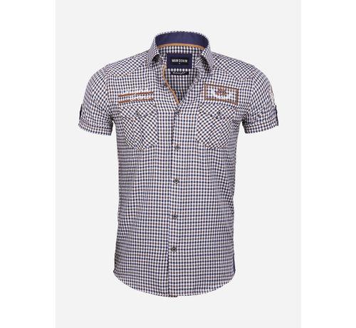 Wam Denim Overhemd Korte Mouw 75572 Traviso Peru