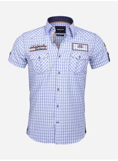 Wam Denim Overhemd Korte Mouw 75572 Traviso Blue