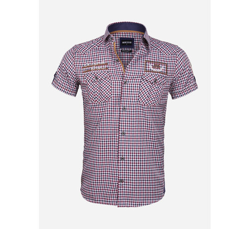 Wam Denim Overhemd Korte Mouw 75572 Traviso Red