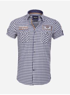 Wam Denim Overhemd Korte Mouw 75572 Traviso Navy
