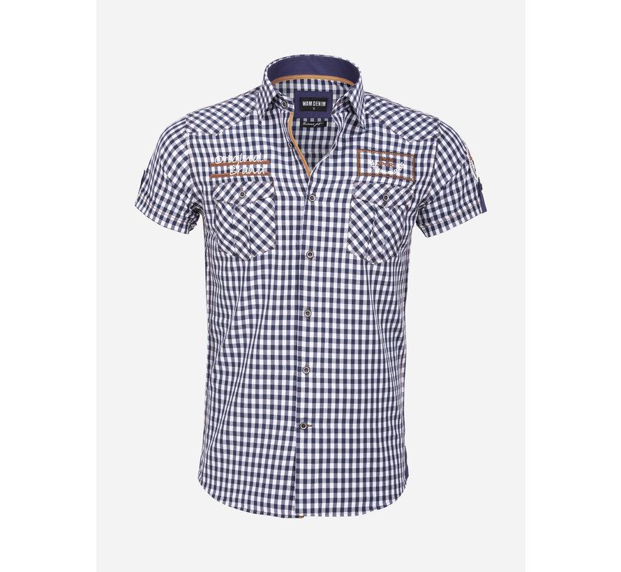Overhemd Korte Mouw 75572 Traviso Navy