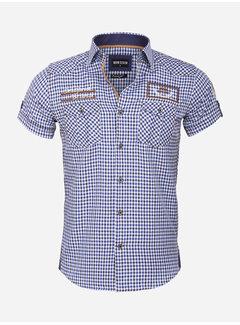 Wam Denim Overhemd Korte Mouw 75572 Traviso Light Royal Blue
